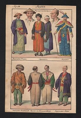 1830 - Japan Japanese Asia Asian natives costumes Lithograph