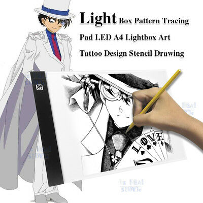 A4 USB LED Art Artist Tattoo Stencil Board Light Tracing Drawing Pad Table Box