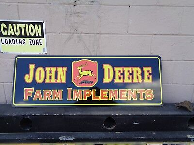 "New Dibond/aluminum 4' Long ""john Deere Farm Implement"" Sign Vinyl Wrap Colorful"