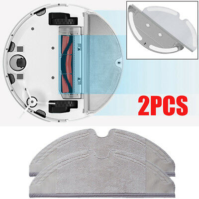 2pcs Dry/Wet Mopping Cloth Wipes Pads for Xiaomi Roborock S50 Vacuum Cleaner