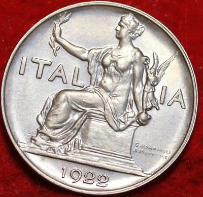 Uncirculated 1922-R Italy Lira Foreign Coin