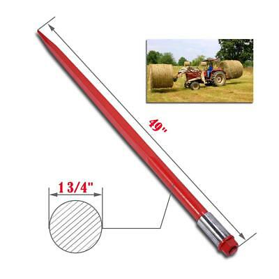"49"" 2000 lbs Hay Spears Nut Bale Spike Fork Tine red pair steel Attachment"