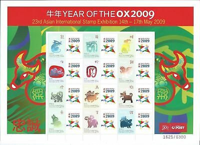 CHRISTMAS ISLAND 2009 Year of the Ox 23rd Asian Int. Stamp Exhibition Sheet MUH.