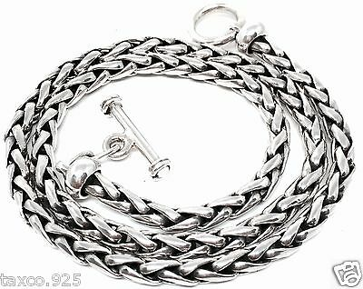Taxco Mexican 925 Sterling Silver Woven Chain Necklace Mexico
