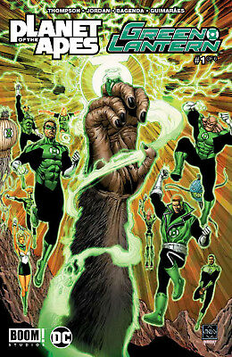 PLANET OF THE APES GREEN LANTERN #1, New, First Print, BOOM!/DC (2017)