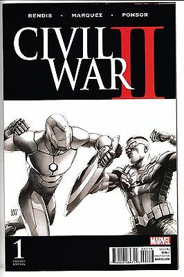 CIVIL WAR II #1, STEVE MCNIVEN 1:200 SKETCH VARIANT, New, Marvel Comics (2016)