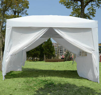 3mx3m Gazebo Party Tent Canopy Folding Marquee Outdoor Garden With Bag