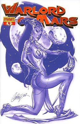 WARLORD OF MARS #4, J SCOTT CAMPBELL BLUE VARIANT, Dynamite (2013)