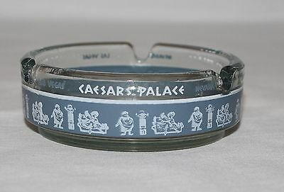 Ashtray Caesars Palace Hotel Casino Las Vegas Nevada Clear Blue Round