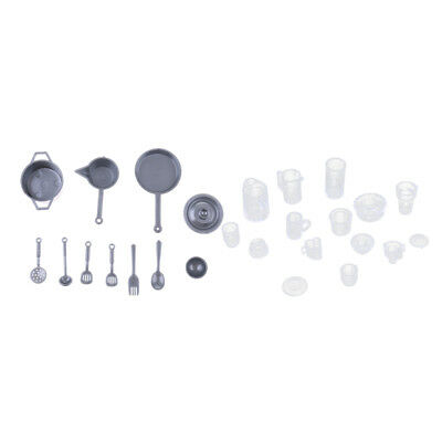 Plastic Silver Kitchenware & KitchenTableware For Barbie Doll Accs Kids Toy