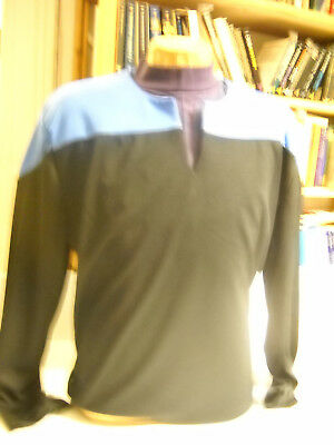 Star Trek DSnine / Voyager - Uniform Shirt blau Größe XL ( Filmwelt ) Synthetic