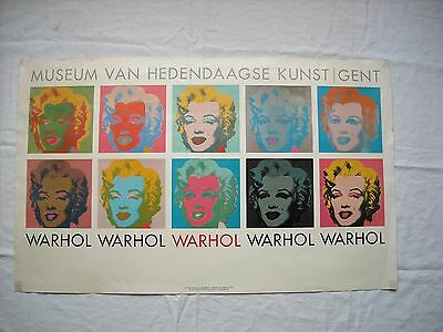 Affiche Andy WARHOL (expo Marylin en 1990)