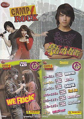 Panini Trading Cards - CAMP ROCK - komplett alle Cards 1-124