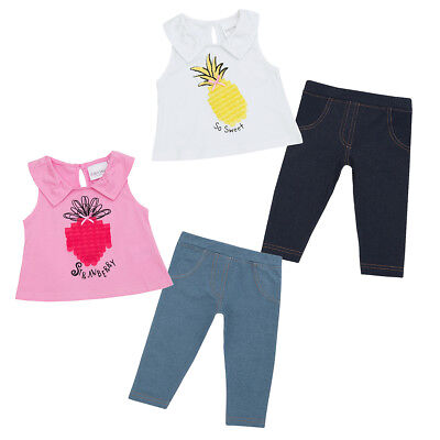 Baby Girls Outfit A-line Top And Leggings Set Strawberry Design Newborn to 18-24