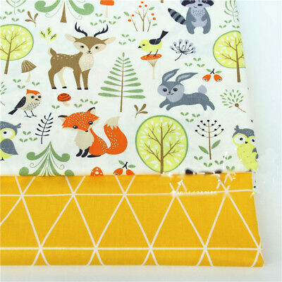 One PCS Cotton Fabric Pre-Cut cloth Fabric for Sewing Fawn Or Bear D2