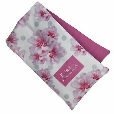 Aroma Home Cherry Blossom Scented Body Wrap Floral Microwave Heat Cold Pack