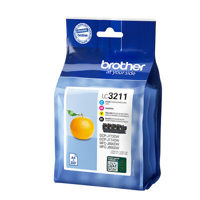 Genuine Brother LC3211 Ink Cartridge Multipack (LC-3211VAL) For MFC-J491DW