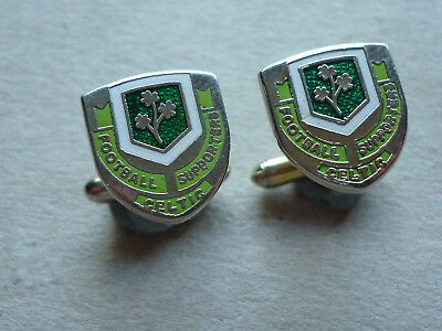 Vintage Enamel Cufflinks  Celtic Football Supporters Club Scotland Scottish F.a.