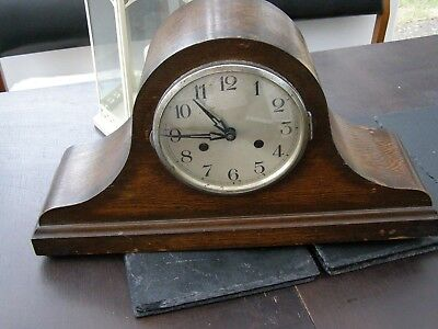 Antique / Vintage Oak Nepolian Hat  Mantle Clock Spares or Repaires
