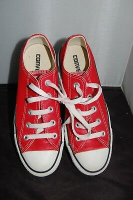 Converse All Star Unisex Red Leather UK4 EU36.5