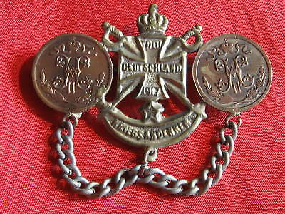 Orig. OLD GERMAN  PATRIOTIC PIN 1917