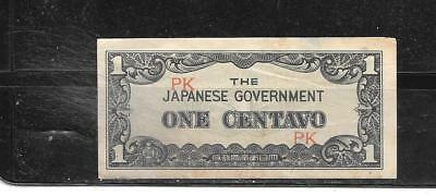 PHILIPPINES #101a 1942 VG USED CENTAVO SUPER BANKNOTE PAPER MONEY CURRENCY NOTE