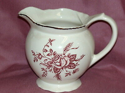 Wood & Sons~COLONIAL ROSE PINK  Pitcher/Jug ~New~Made in England