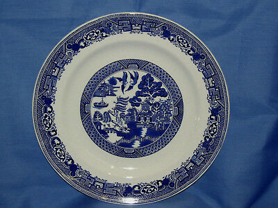 Wood & Sons~BLUE WILLOW Round Platter ~New~Made in England