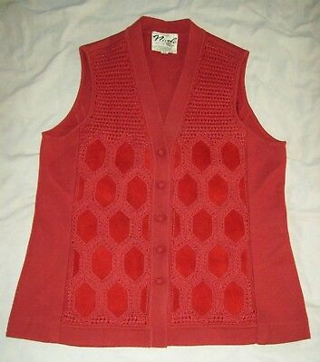 NICOLE San Francisco Made in Hong Kong wool blend leather panel front Vintage 20