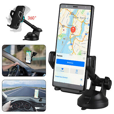 360° Car Mount Qi Wireless Fast Charger Magnetic Holder For Samsung iPhone X 8