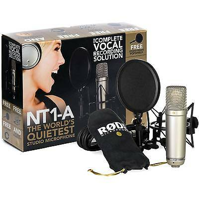 Rode NT1-A Condenser Microphone Vocal Package with Pop Shield & Cable