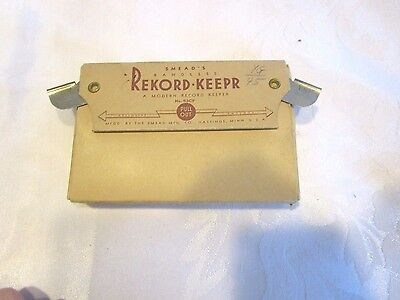 Vintage Made In USA  File Card Record Keeper Smead's Rekord Keeper  - LUDLOT
