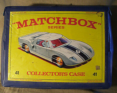 """1978""""matchbox-Series Collector´s Case 41""""made In England Regd.u.s.pat.off+14Auto"""