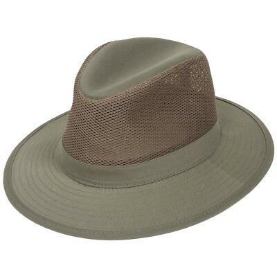 59f84893302e8 Dorfman Pacific 863M Mesh Crown Khaki Safari Hat UPF 50+ Men Women NEW size