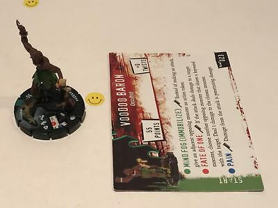 Horrorclix Nightmares Voodoo Baron #023 with Card NEW from Booster Pack