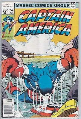 CAPTAIN AMERICA #224 (1978) VF/NM 9.0 cents, Mildenhall Collection