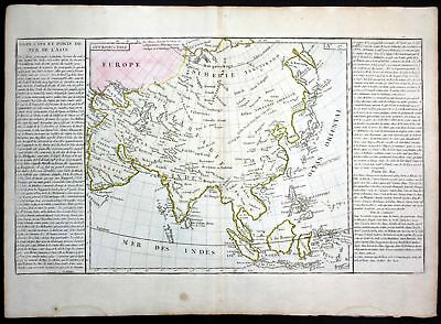 ca. 1780 Asia Asien Japan Korea China habour Clouet antique print Kupferstich