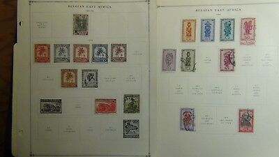 Ruanda Rwanda stamp collection on Scott Int'l pages '41 -'99 w/ 375 stamps