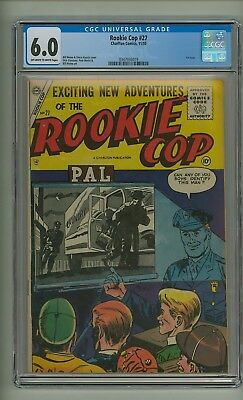 Rookie Cop 27 (CGC 6.0) OW/W pages; 1st issue; Only one graded higher (c#20076)