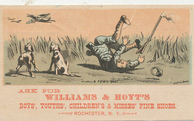 C7902  Victorian Trade Card Duck Hunting William Hoyt Shoes Rochester Ny