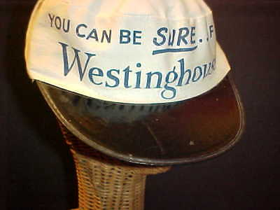 "Vtg. 1940's / 50's Westinghouse Cap, Wwii Era, ""you Can Be Sure"" Scarce Find"