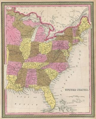 1846 Mitchell Map of the United States