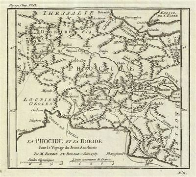 1787 Bocage Map of Phocis and Doris, Ancient Greece