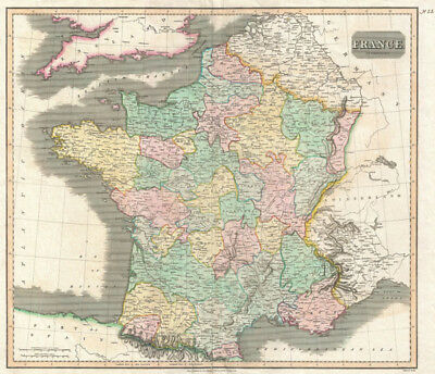 1814 Thomson Map of France