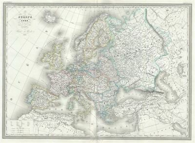 1861 Dufour Map of Europe in 1789