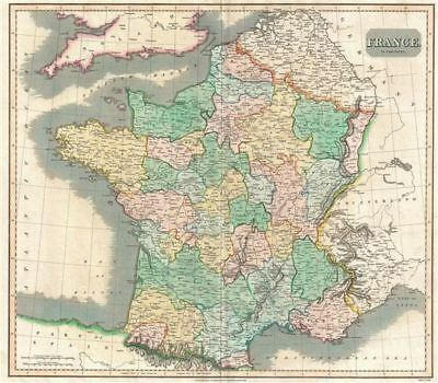 1814 Thomson Map of France in Provinces