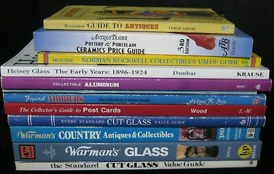 Lot Of 12 Books Collecting Post Cards Nodders Aluminum Glass Pottery Porcelain