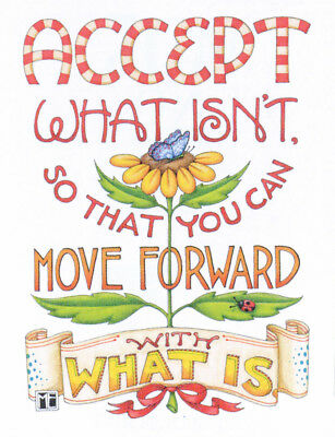 ACCEPT WHAT ISN'T-Handcrafted Fridge Magnet-Using art by Mary Engelbreit