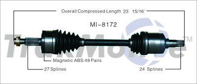 For Chrysler 300 Dodge Charger Magnum AWD Front Pass Right Axle Shaft SurTrack