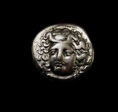 Nymph of Larissa.  Scarce Ancient Greek coin drachm from THESSALY.